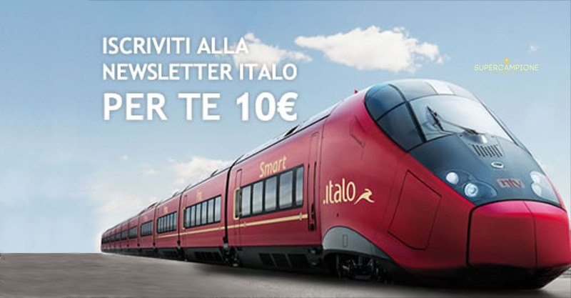 Buono sconto Italo Treno da 10€