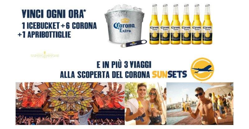 Corona: vinci gadget e 3 viaggi