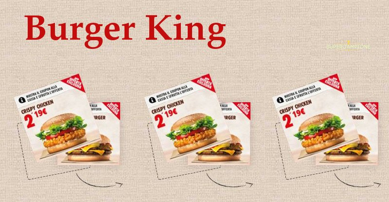 Buoni sconto estate Burger King