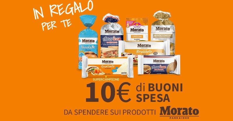 Buoni sconto Morato da 10 euro
