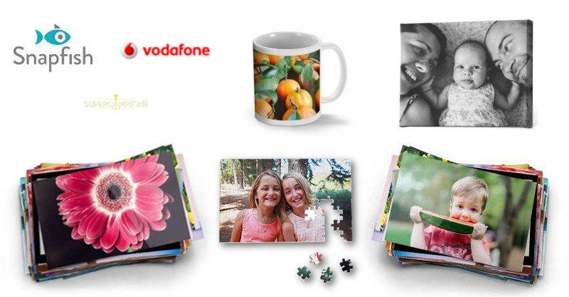 Vodafone ti regala un buono Snapfish da 5 euro