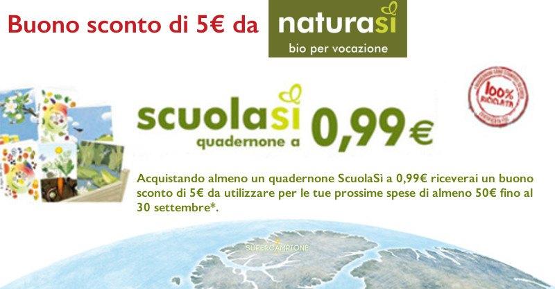 Buono sconto NaturaSì da 5 euro
