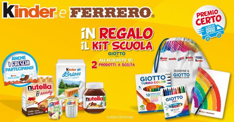 Omaggio kit scuola Giotto