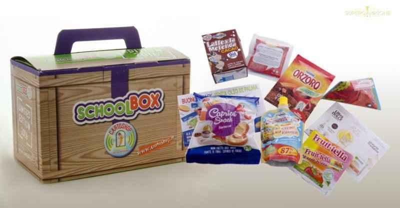 Omaggio SchoolBox nelle cartolerie Cartoshop