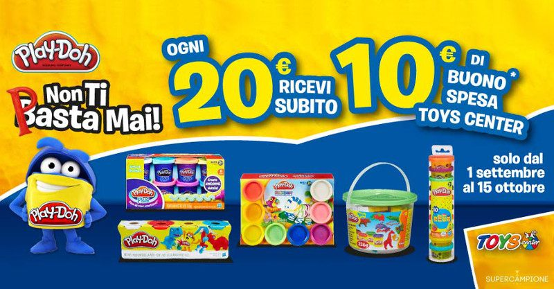 Acquista Play-Doh e ricevi buono Toys da 10€