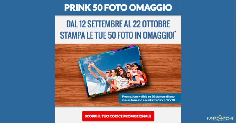 Omaggio stampa 50 foto Prink Italia