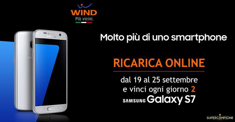 Wind: ricarica e vinci un Samsung Galaxy S7