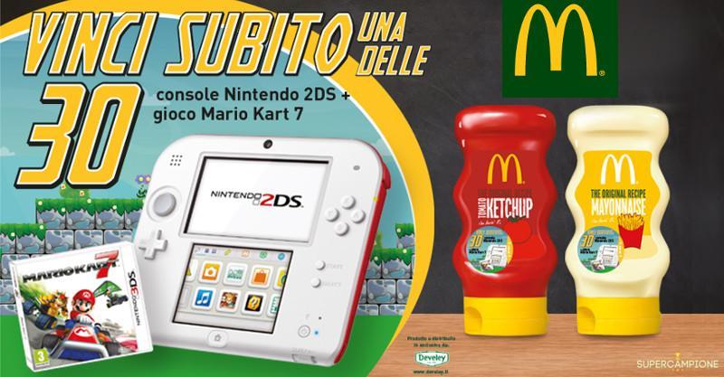 Concorso McDonald's: vinci Nintendo e Mario Kart