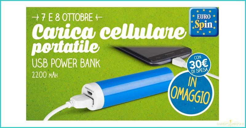 Caricabatterie cellulare gratis da Eurospin