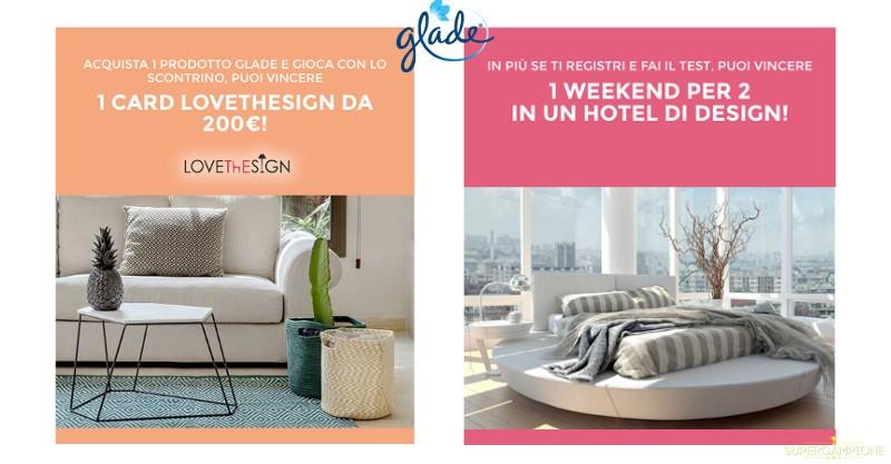 Glade: vinci viaggio in hotel di design e buoni