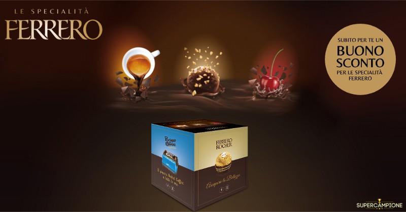 Concorso gratuito Ferrero: vinci fornitura, buoni sconto e campioni omaggio
