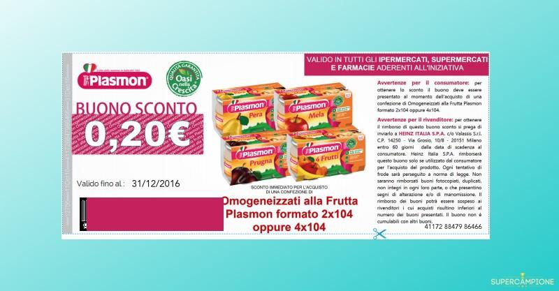 Buono spesa Plasmon da 0,20€