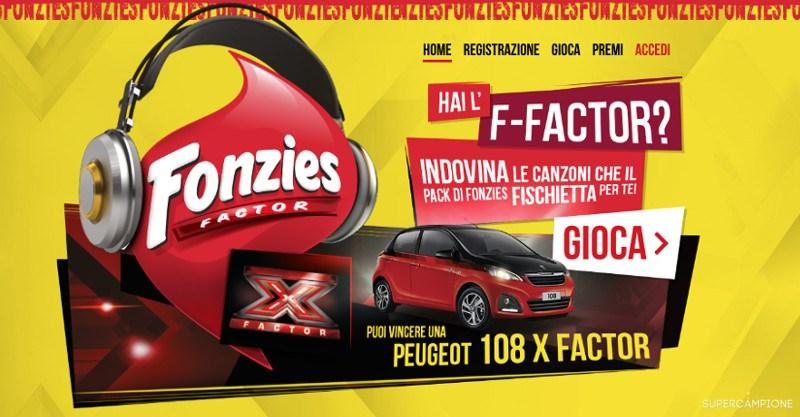 Concorso Fonzies: vinci X-Factor e Peugeot