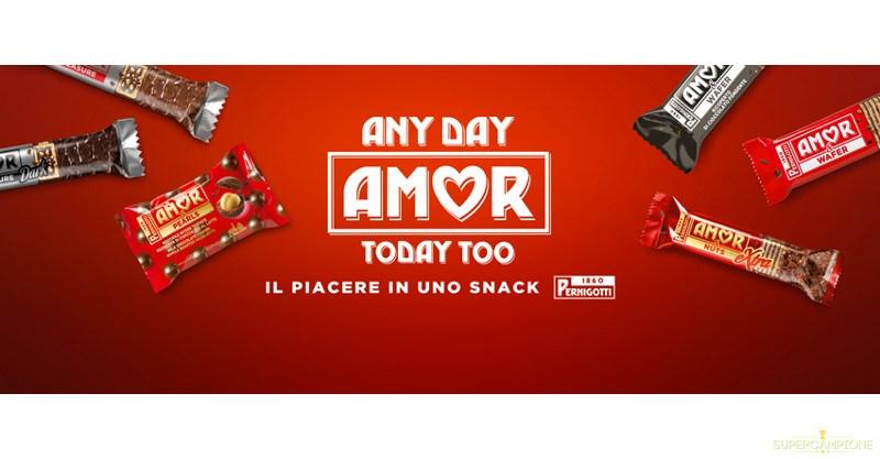Campioni omaggio snack AMOR Pernigotti
