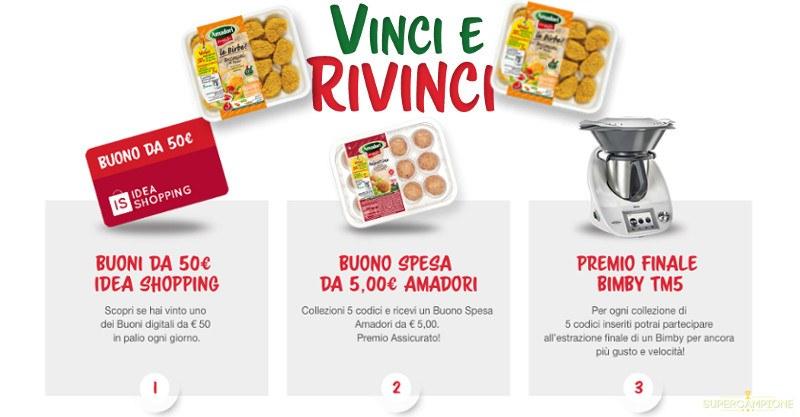 Vinci Bimby TM5  e buoni spesa con Amadori