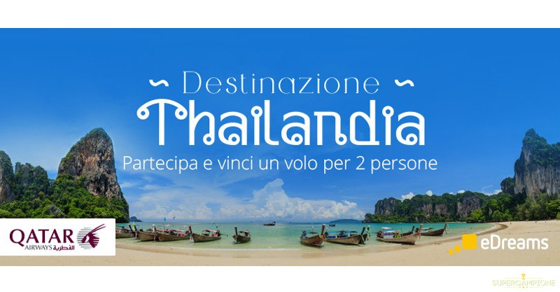 Vinci un volo in Thailandia con eDreams
