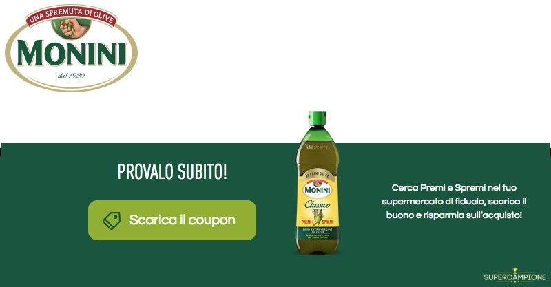 Buoni spesa olio Monini da 0,50€