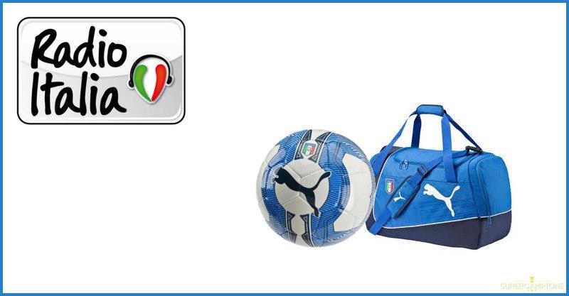 Vinci gratis borsone o pallone della Nazionale di Calcio con Radio Italia