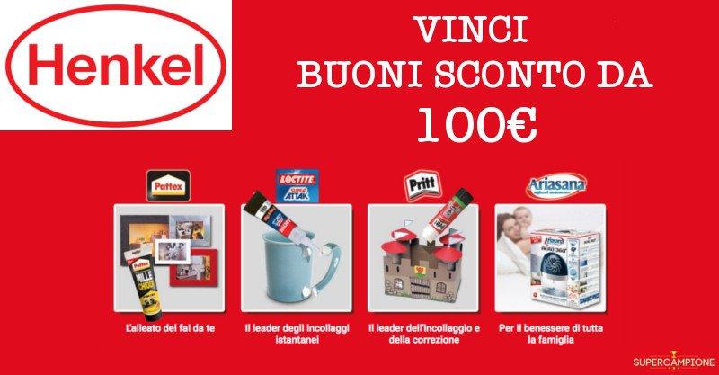 Vinci buoni spesa da 100€ con Henkel