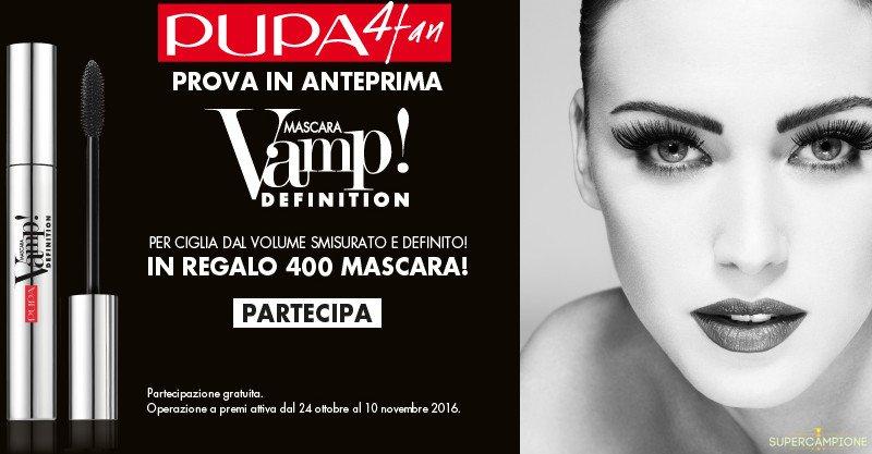 Concorso Pupa: vinci il nuovo Mascara Vamp! Definition