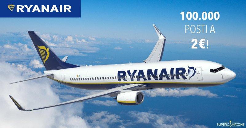 Ryanair: 100.000 voli a 2 euro