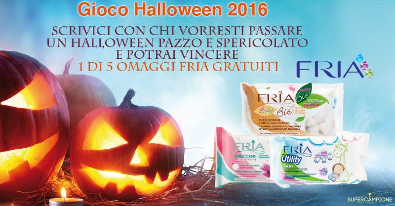 Gioco Halloween Fria: vinci omaggi