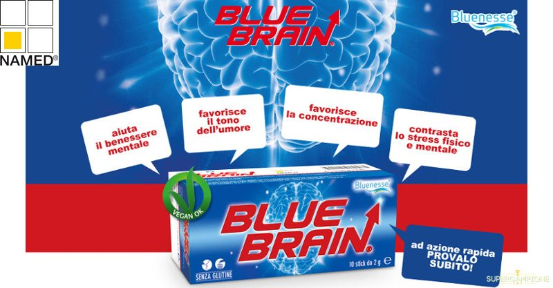 Omaggio integratore Blue Brain