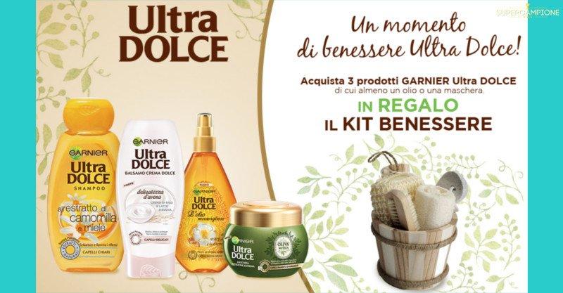 Ultra DOLCE Garnier ti regala un kit benessere