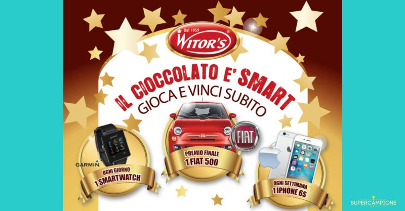 Vinci Smartwatch, iPhone 6S e Fiat 500 con Witor's