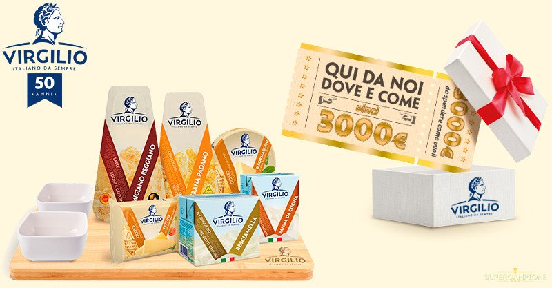 Virgilio: vinci gratis una fornitura di formaggi