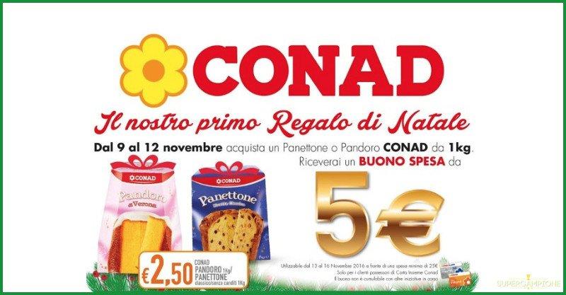 Conad: acquista panettone o pandoro a 2,50€ e ricevi buono spesa da 5€