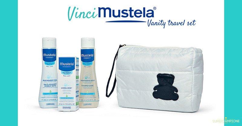 Vinci gratis un kit viaggio Mustela