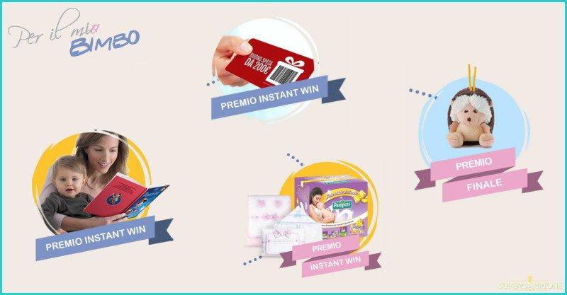 Vinci gratis buoni spesa da 200€, kit Pampers, favole Disney