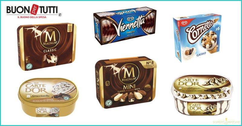 Buoni spesa gelati Algida Cornetto, Magnum, Viennetta, Carte d'Or