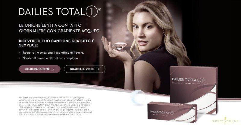 Campioni omaggio lenti a contatto Dailies Total 1
