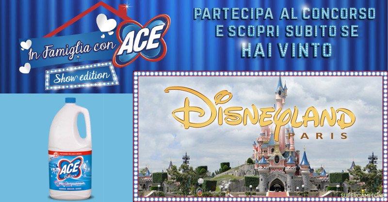 Concorso Ace: vinci Disneyland e altri premi