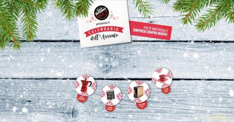 Calendario dell'Avvento Caffè Vergnano: vinci gratis moka, macchine, tazzine e altri premi