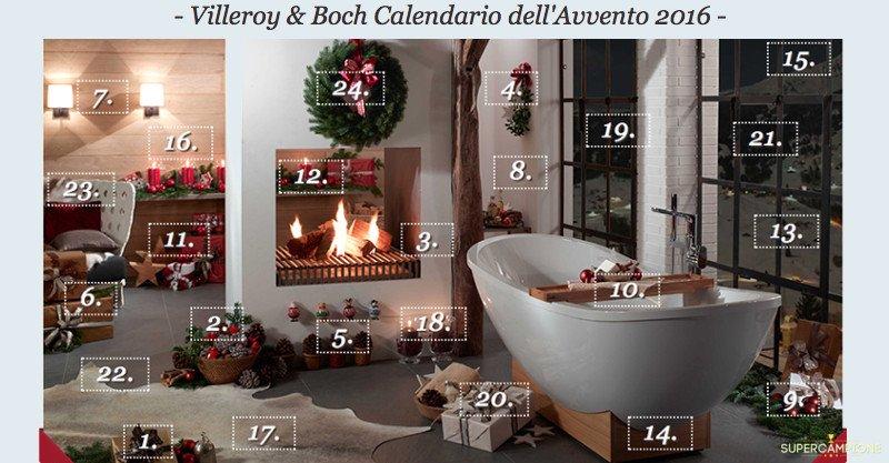 Calendario dell'Avvento Villeroy & Boch: vinci gratis premi per il tuo bagno