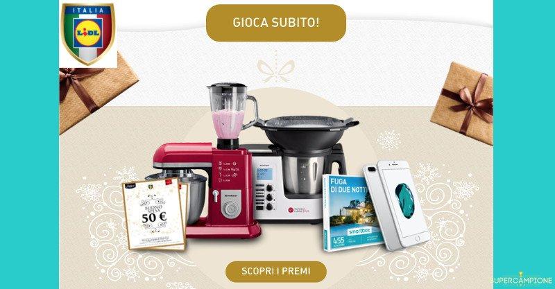 Supercampione - Concorso di Natale Lidl: vinci gratis Monsieur Cuisine, robot, buoni spesa e Smartbox