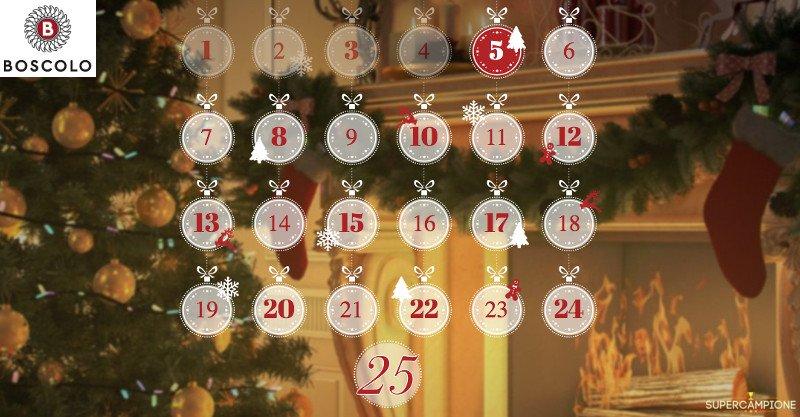 Calendario dell'Avvento Boscolo: vinci sconti e promozioni