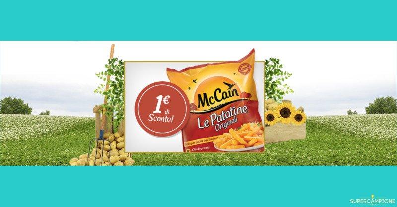 Buoni spesa patatine McCain da 1€