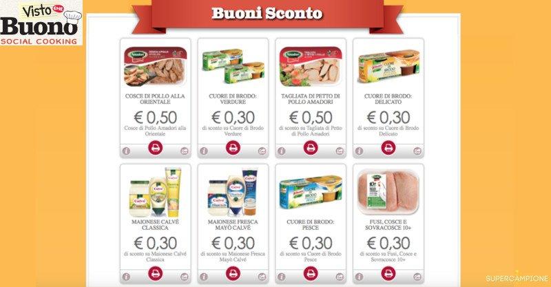 Buoni spesa Knorr, Calvè, Amadori