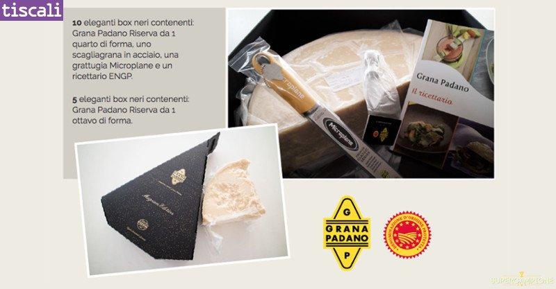 Vinci gratis box di prodotti Grana Padano