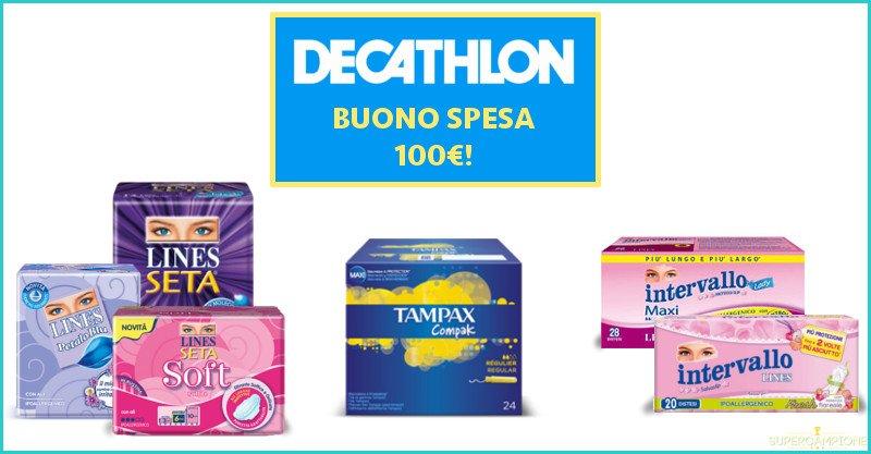 Lines: vinci ogni giorno 3 buoni spesa Decathlon da 100€