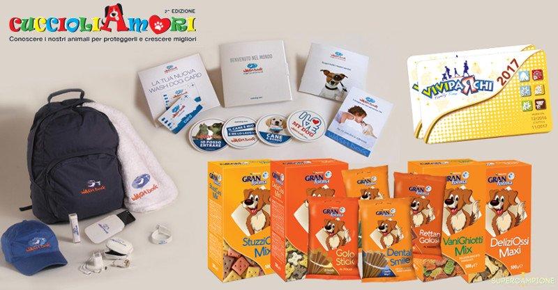Cuccioli Amori: vinci gratis fornitura di snack e biscotti per cani