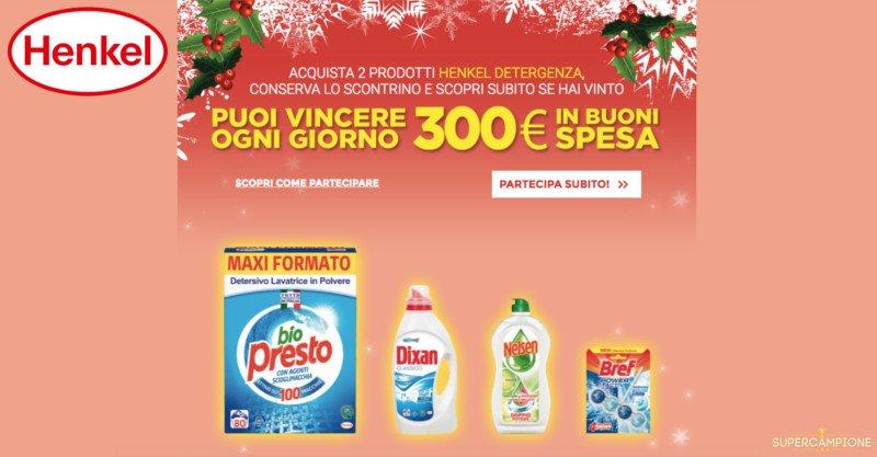 Henkel Winter Plan: vinci buoni spesa da 300€ ogni giorno
