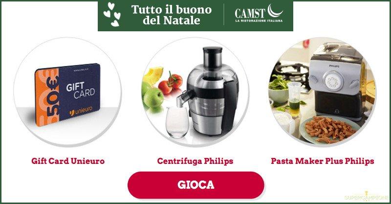 Vinci gratis Gift Card Unieuro, Centrifuga Philips e Pasta Maker Philips