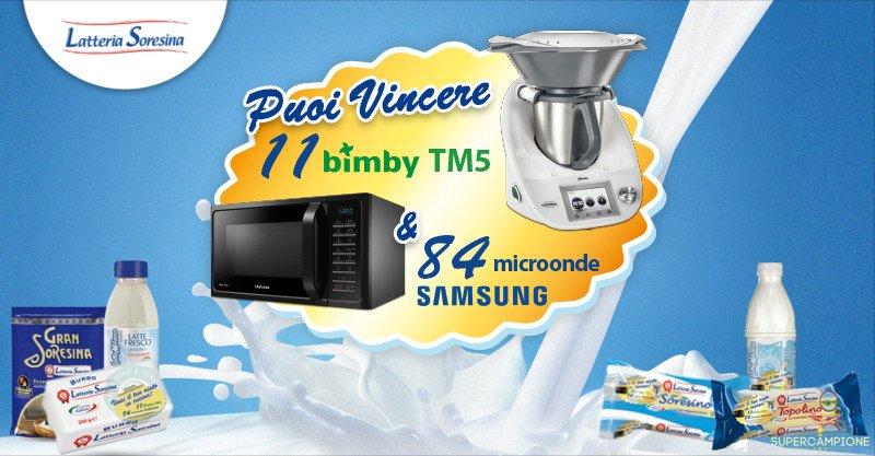 Supercampione - Latteria Soresina: vinci Bimby e forni a microonde Samsung