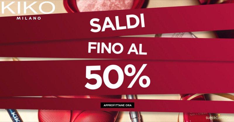 Saldi Kiko fino al 50%