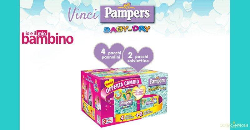 Vinci gratis un Box Pampers Baby-dry